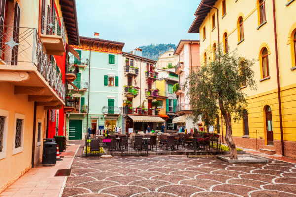 Italien Gardasee Malcesine Altstadt