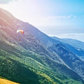 Italien Gardasee Malcesine Paragliding