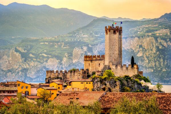Italien Gardasee Malcesine Scaligero Burg