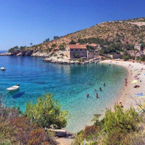 Kroatien Hvar Dubovica Beach