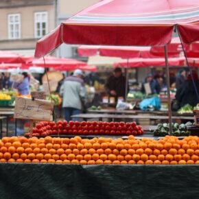 Kroatien Zagreb Dolac Markt