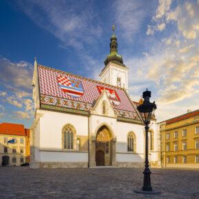 Kroatien Zagreb St. Markus Kathedrale