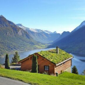 Blockhaus in Norwegen: 8 Tage im eigenen Ferienhaus mit Panoramablick auf den Nordfjord ab 141€ p.P.