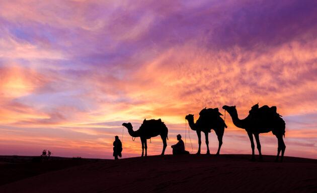 Oman Safari Sonnenuntergang