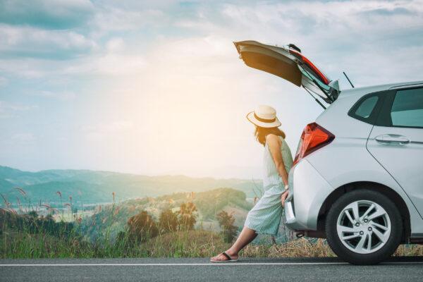 Reisen Auto Frau