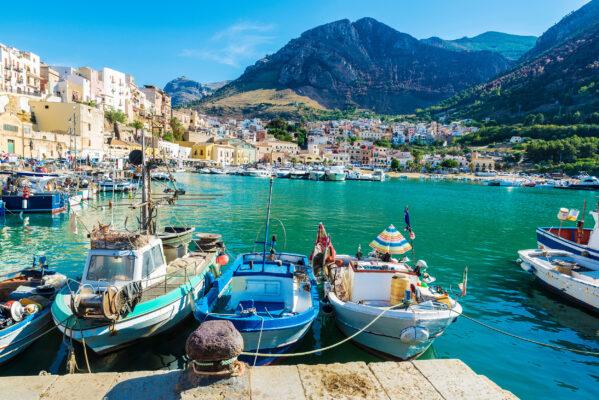 Sizilien Hafen Castellammare
