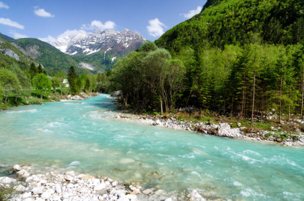 Slowenien Triglav Nationalpark Soca River