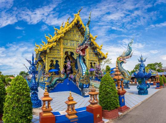 Thailand Chiang Rai Blauer Tempel
