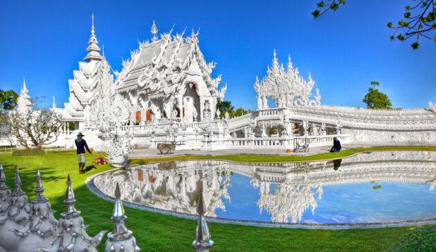 Thailand Chiang Rai Weißer Tempel