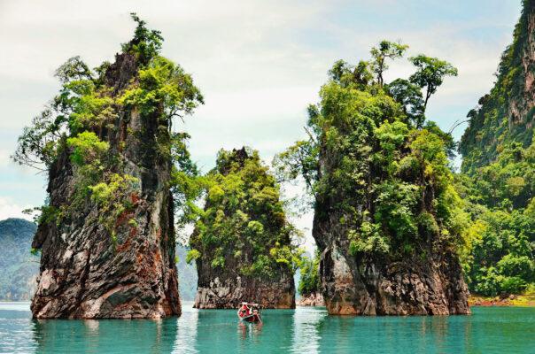 Thailand Khao Sok Nationalpark Felsen
