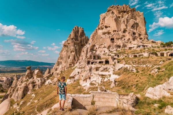 Türkei Festung Uchisar Kappadokien