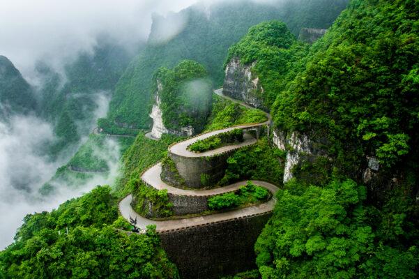 China Zhangjiajie Tianmen Berg