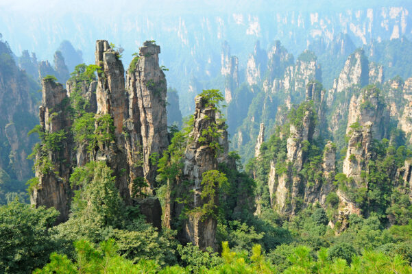 China Zhangjiajie Wulingyuan Landschaft