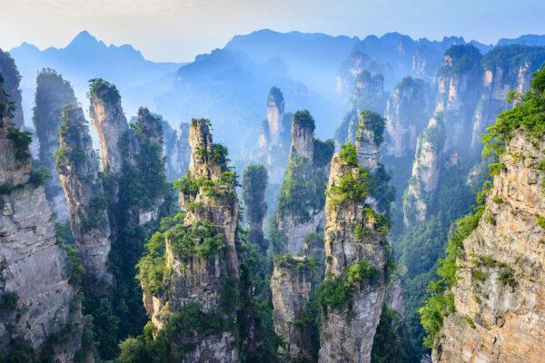 China Zhangjiajie Wulingyuan Naturpark