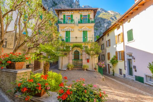 Gardasee Limone Altstadt