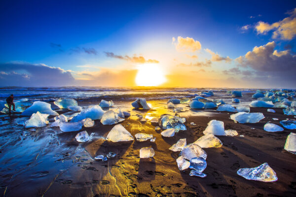 Island Jokulsarlon Beach Eisberge