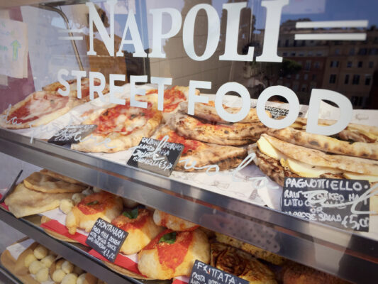 Italien Neapel Street Food Pizza