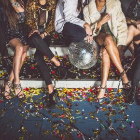 Party Freunde Spaß Discokugel Konfetti
