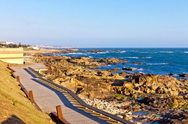 Portugal Matosinhos StrandFelsen