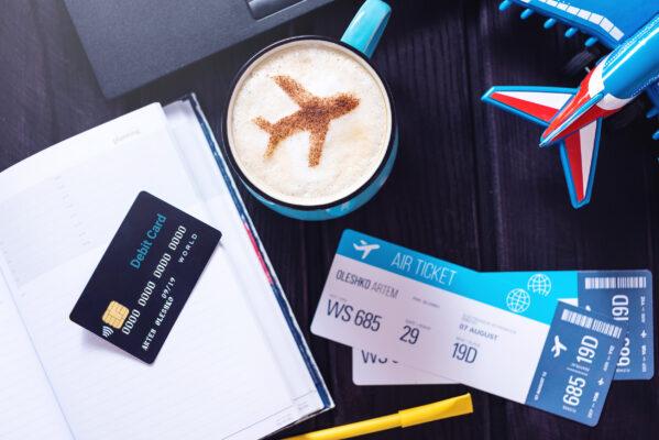 Reisen Flugticket Kreditkarte