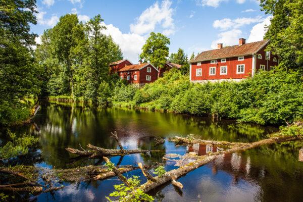 Schweden Vaestmanland Rotes Haus