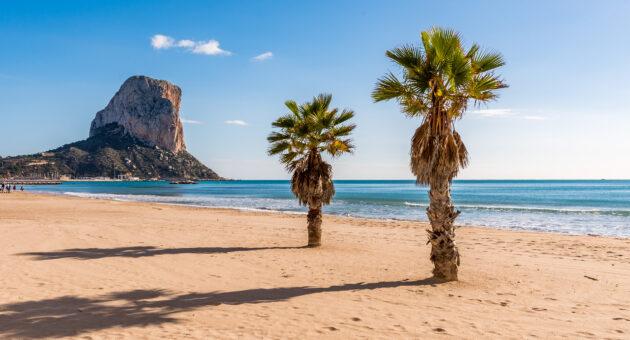 Spanien Costa Blanca Calpe Strand