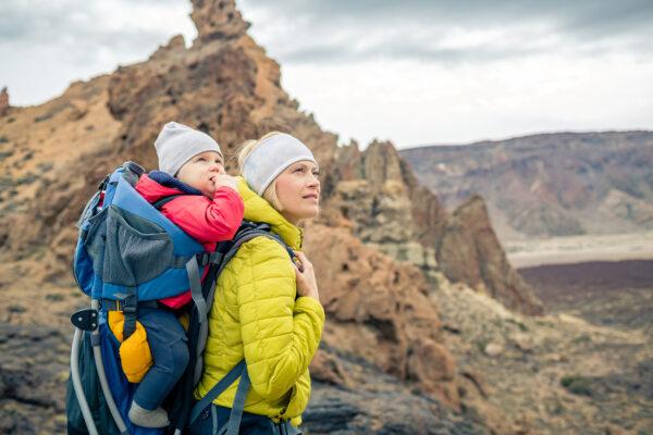 Spanien Teneriffa Wandern Mutter Baby