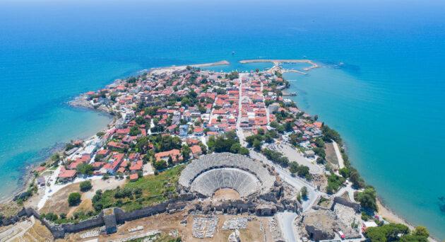 Türkei Side von oben