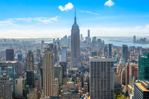 USA New York Von Oben Aussicht
