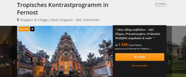 13 Tage Bali Singapur Rundreise