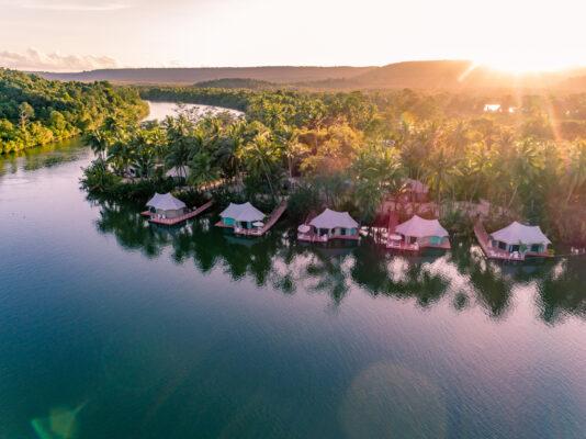 4 River Floating Lodge von oben