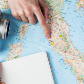 Weltkarte Reisen Urlaub planen Panorama Neu 1100