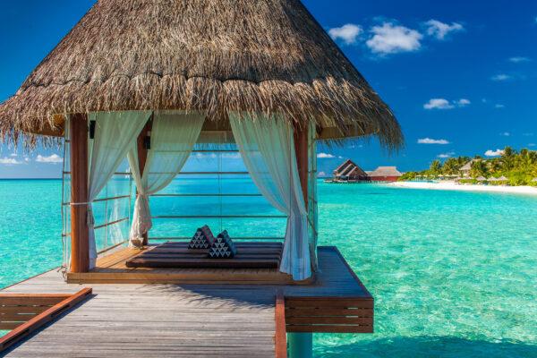 Bora Bora Tropischer Aussicht Überwasser Spa
