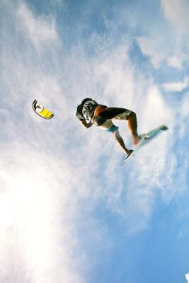 Curacao Surfen Kitesurfing Mann