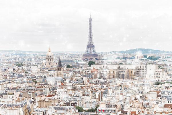 Frankreich Paris Skyline Eiffelturm Winter