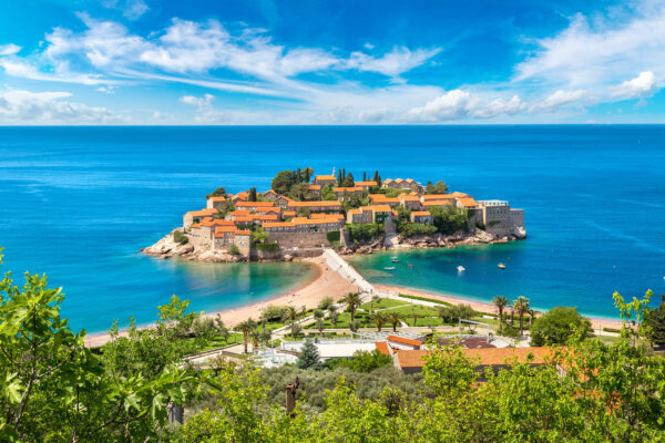 Montenegro Sveti Stefan Inseln