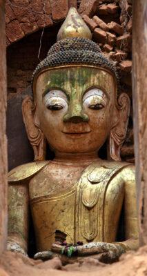 Myanmar Bagan Buddha Statue Tempel