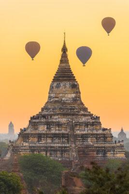 Myanmar Bagan Shwesandaw Pagode Sonnenaufgang