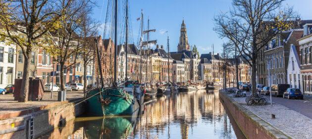 Niederlande Groningen Gracht
