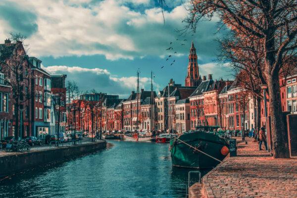 Niederlande Groningen Kanal