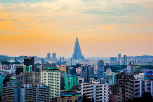 Nordkorea Pyongyang Skyline