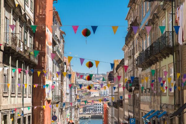 Portugal Porto Fluss Dekorationen Straße