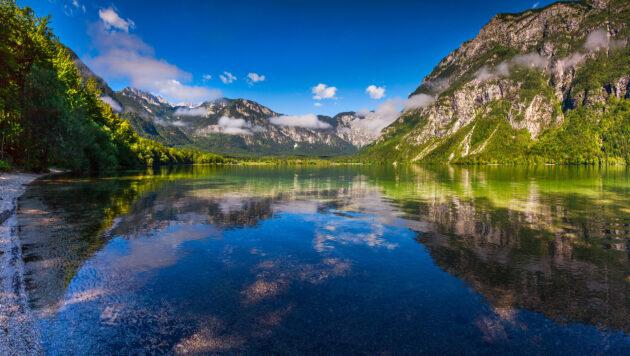 Slowenien Bohinj Lake spiegel