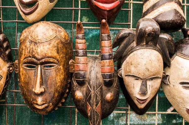 Südafrika Kapstadt Masken