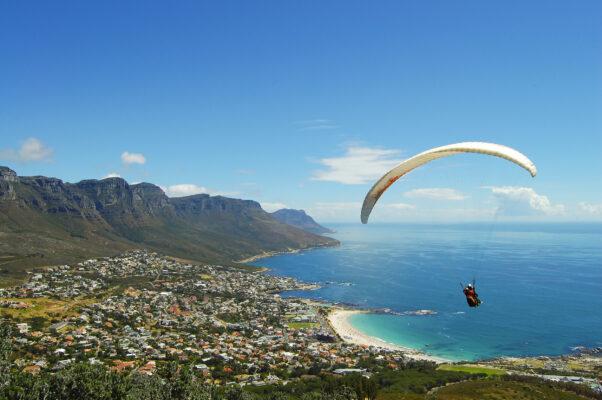Südafrika Kapstadt Paragliding