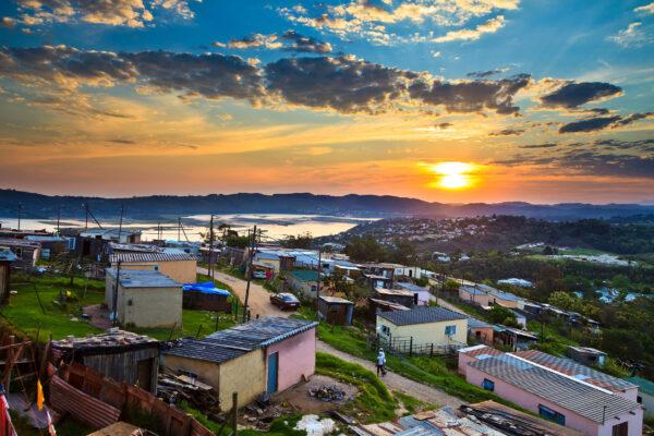 Südafrika Township Sonnenuntergang