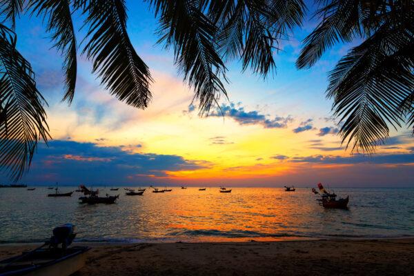 Thailand Koh Tao Strand Sonnenuntergang