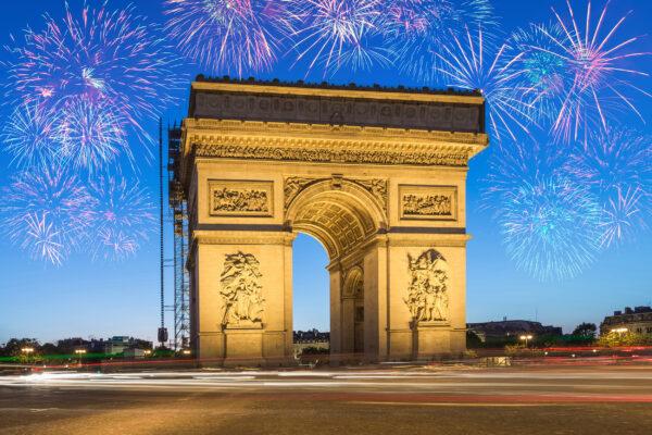 Frankreich Paris Triumphbogen Silvester