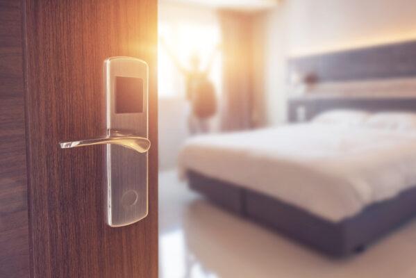 Hotelzimmer Tür Code