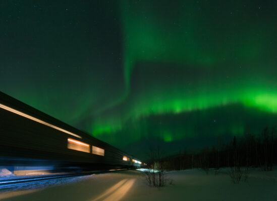 Lappland Nordlichterzug